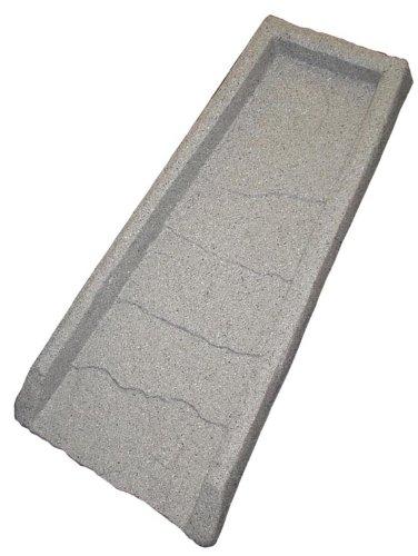 Emsco Group 2101 24' Decorative Downspout Rain Natural Stone Texture-Granite Splash Block