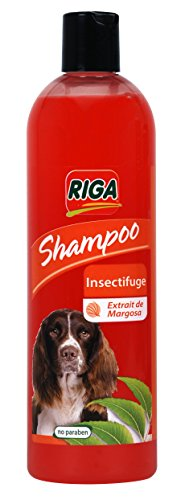 Riga Shampooing Insectifuge pour Chien 500 ML- Lot de 2