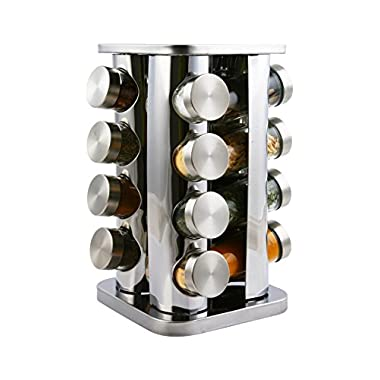 Orii GSR2921-S Acero Spice Rack 16-Jar, Steel with steel caps
