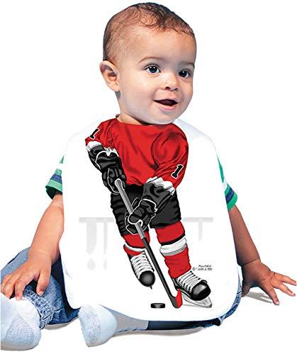Just Add A Kid 690 Hockey Forward Red Baby Oversize Bib 0-18 Months