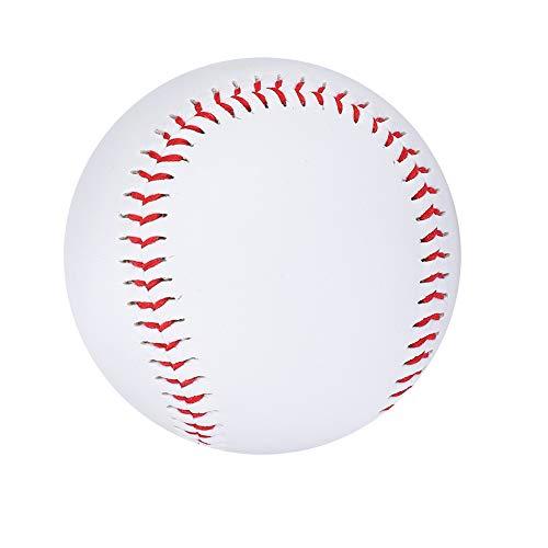 Pwshymi Baseball Soft Baseball Cowhide Standard Reduce Impact Training Baseball for Students Practice