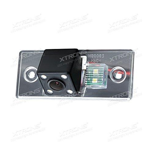 XTRONS Rückfahrkamera 170 ° Weitwinkelobjektiv Wasserdicht Rückfahrsystem Einparkshilfe für Skoda wasserdicht Nacht Vision LEDs