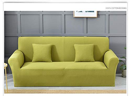 Funda de sofá de Alta Elasticidad,Funda de sofá elástica gruesa, cojín antiincrustante de sofá antideslizante de color sólido de cobertura total, funda de cojín de sala de estar, funda de protección