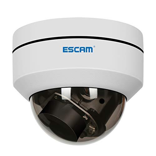Cámara de vigilancia ESCAM IP66, PVR002 2MP HD 1080P Versión Nocturna Detección de Movimiento PTZ 4X Zoom Objetivo 2.8-12mm Cámara impermeable POE Dome IP Soporte Reducción de Ruido 3D