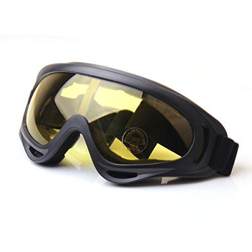 TININNA Gafas de Motorista para Motero Plegable Ajustable Gafas de protección Color(Amarillo)