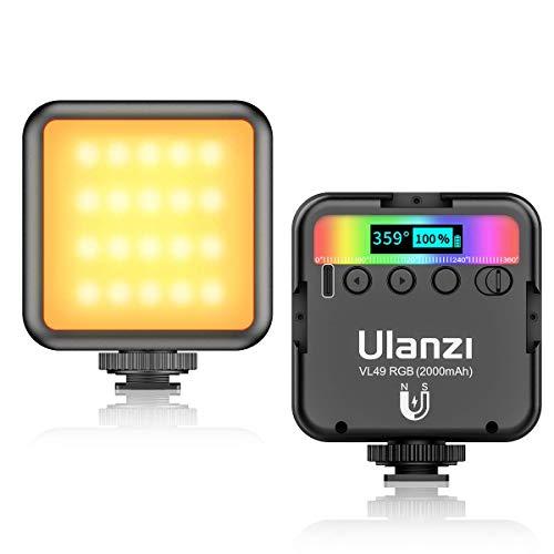 【2020最新】Ulanzi VL49 RGB撮影ライト LEDビデオライト ソフト光 超高輝度 コールドシューマウント付きカメラライト iPhone Samsung Canon Nikon Sony Zhiyun Smooth 4 DJI OSMO Mobile 3 Action Gopro 5 6 7 8 9 pro osmo pocket用 12ヶ月保障