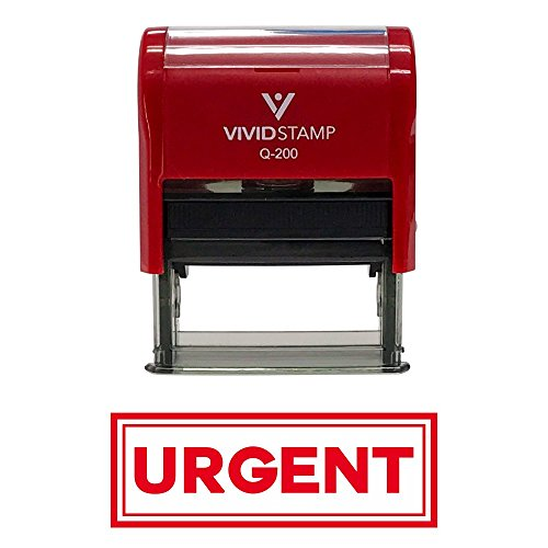Urgent w/Border Office Self-Inking Office Rubber Stamp (Red) - Medium
