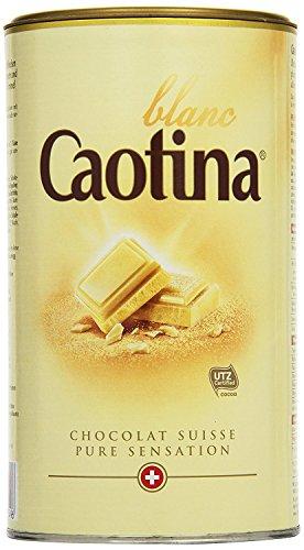 Caotina blanc, Cacao en Polvo de Chocolate Blanco Suizo, Bebida Caliente de Chocolate, Bote, 500 g