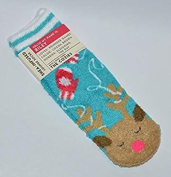 Bath Body Works Shea Infused Lounge Socks Riley The Reindeer