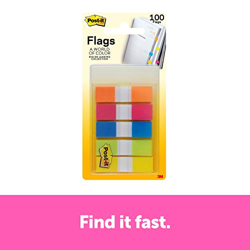 Postit Flags Rio de Janeiro Collection Stays Put Until You Decide to Remove it47 in Wide 100/OntheGo Dispenser 683RIO2