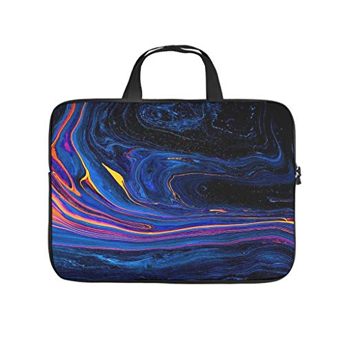 Stars Watercolour Doodle Waves Laptop Bag Dustproof Laptop Briefcase Pattern Notebook Bag for University Work Business