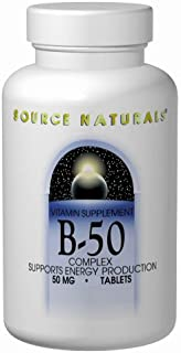Source Naturals B-50 Complex 50 mg B-Vitamins For Energy Production Support - 250 Tablets