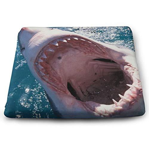 Sitzkissen aus Memory-Schaumstoff für Autositzerhöhung – Sitzkissen für Bürostuhl – gruseliger Haifisch-Maul