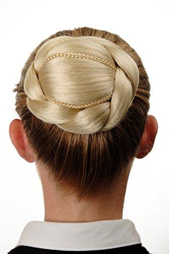 WIG ME UP - Chignon extension tressé peigne épingle à cheveux blond platine N672-613