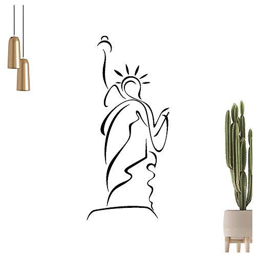 Freiheitsstatue - Linien Wandtattoo in 6 Größen - Wandaufkleber Wall Sticker