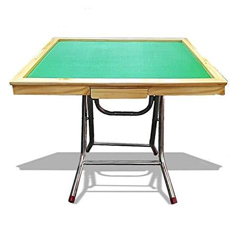 N/Z Living Equipment Mahjong Tisch Tragbarer Mahjong Tisch Klappbarer Pokerspiel Tisch Schachtisch Haushalt Unterhaltung Klappbarer Mahjong Tisch (Farbe: Rot Größe: Eine Größe)