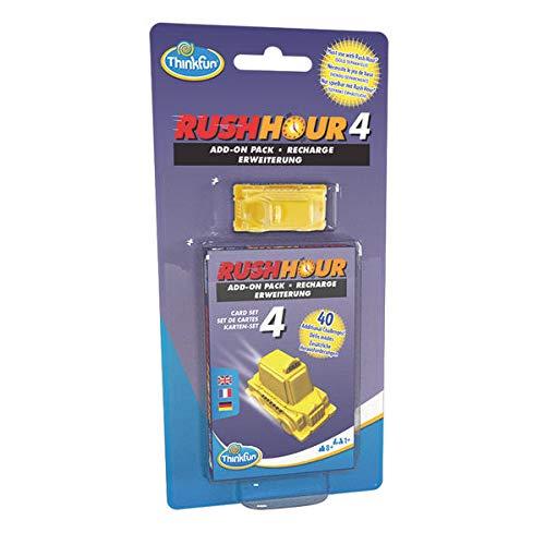 ThinkFun - 76453 - Rush Hour 4 Set de ampliación Un complemento a la Original Rush Hour con 40 nuevos desafíos para niños y Adultos a Partir de 8 años