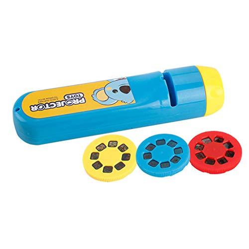 FBGood Projektor, Spielzeug, Kinder, Geschichte, Taschenlampe, Nachtlicht, Foto, Licht – Taschenlampe, tragbar, Projektion, Tierhimmel, Sternenhimmel, Lernspielzeug für Kinder blau