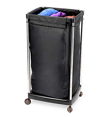 Salon Trolley - Heavy Duty - Wasserij/Commercieel/Industrieel/Huis/Salon/Wasmand voor Salon Beauty Massage Spa Zwart