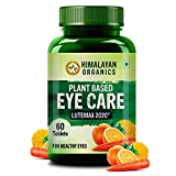 Himalayan Organics Plant Based Eye Care Supplement to Improve Vision, Blue Light & Digital Guard (Lutemax 2020, Orange Extract, Carrot Extract) - 60 Servings