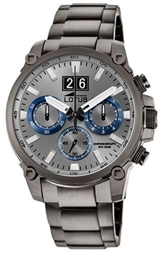 Lotus Herren Chronograph Quarz Uhr mit Edelstahl Armband 10140/2