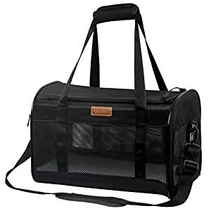 Akinerri Airline Approved Pet Carriers,Collapsible Soft Sided Pet Travel Carrier for Dogs and Cats, Cat Carrier Pet Carries for Small Medium Cats