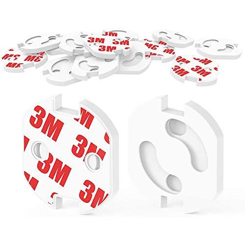 Kindersicherung Steckdosen Steckdosenschutz für Steckdose mit Drehmechanik Weiß Steckbar Steckdosensicherung für Babys und Kinder 20 Stück