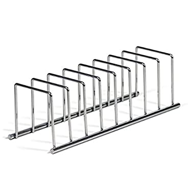 Spectrum Diversified Modern Lid Organizer, Plate Rack, Lid Holder, Square, Chrome