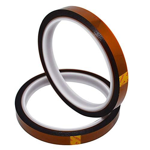 Senven 2 volumi Stampante 3D Nastro ad alta temperatura, polyimide film nastro Nastro Kapton, per mascheratura, saldatura, rivestimento in polvere, circuiti sublimazione e isolanti (33M x 10MM) × 2