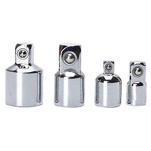 """Juego de adaptadores de vaso 4 PIEZAS 1/4""""3/8"""" Adaptador de vaso de 1/2""""reductor de vaso multifuncional para llaves de trinquete (plateado)"""