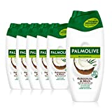 Palmolive Duschgel Naturals Kokosnuss & Milch, 6 x 250ml - Cremedusche mit Feuchtigkeitsmilch und...