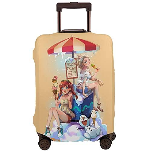 Funda protectora para maleta de equipaje Frozen Elsa Anna Elk Olaf Snowman Ice Cream Fantasy Cartoon Magic Cute18-32 pulgadas, tamaño grande para maleta con ruedas, multicolor, 95