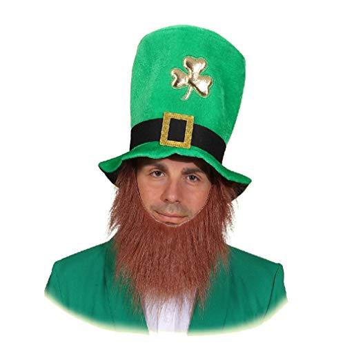 St. Patrick's Day Hut mit angenähtem Bart