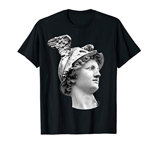 Hermes Mercury Statue Mythology Ancient Greek God Tee