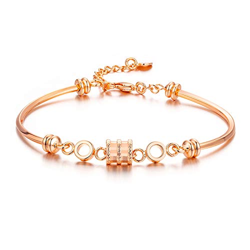 ivyAnan Bracelets for Women 18K Rose Gold Plated Dainty and Elegant Fashion Charm Bracelet Bangles Gifts for Girlfriend Sister Wife Best Friend Teens
