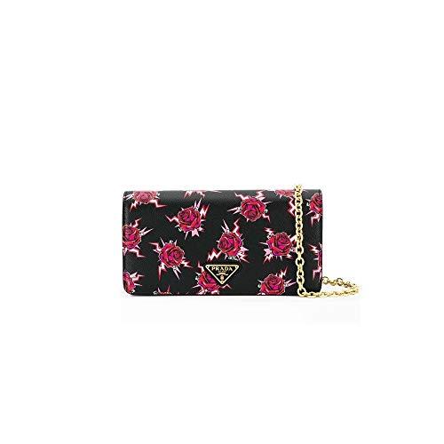 Prada Saffiano Rose Kleine Lacca Leder Handtasche 1DH044