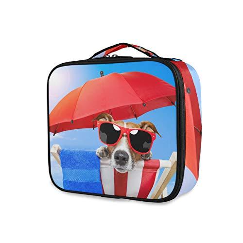 Make-uptas gereedschap cosmetische trekkoffer opbergen dames reis toilettas hond zonnebaden op dek stoel draagbaar