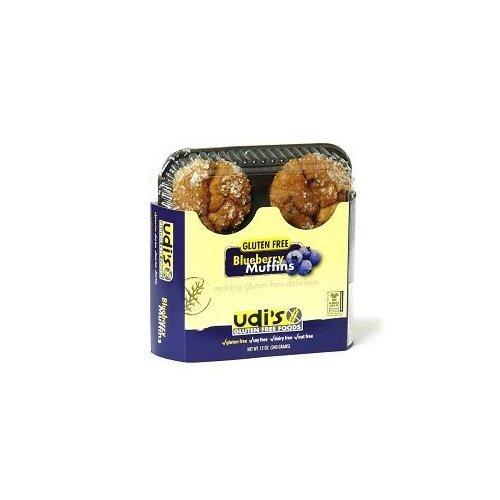 Udi's Gluten Free Blueberry Muffins (1 Case)