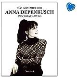 El alfabeto de Anna Depenbusch en blanco y negro – Cuaderno de canciones con colorido clip en forma de corazón