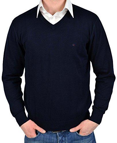 Casa Moda Pullover mit V-Ausschnitt dunkelblau 4130-135, Größe:XXXL