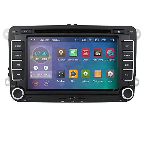 Android 10 OS 7 Zoll 2 Din Autoradio 4G RAM 64G ROM Moniceiver DVD GPS Bluetooth Navigation für Volkswagen Golf Passat Skoda Sitz Polo Amarok J-ETA T5 Transporter