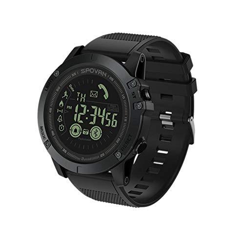 Reloj Deportivo Inteligente Digital 5Bar Sumergible Profundidad 2 años de duración de la batería Multifuncional Negro para Hombres