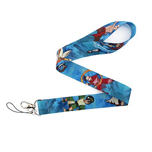 Anime Source Avatar The Last Airbender Character Water Tribe Earth Kingdom Air Nomads Fire Nation Lanyard Keychain ID Badge Holder