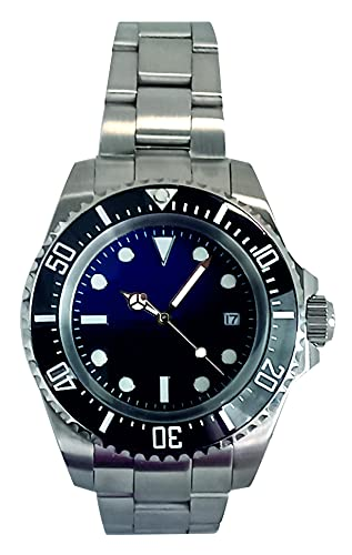 PARNIS by Collectors Club TW1014 Automatikuhr 316L-Edelstahl Armbanduhr Datumsanzeige Keramik-Lünette 5BAR Wasserdicht