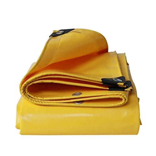 TYHZ Lona Impermeable Lluvia de Lona Tela Impermeable Impermeable Protector Solar Lona Triciclo Sol Sombra toldo toldo bupei paño, Amarillo, Grosor 0.5mm, 550 g / m2 Lona Piscina (Size : 2X2)