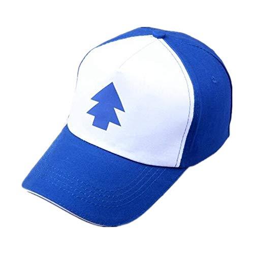 Basecap Modische Verstellbar Kappe aus Stickerei| Classic Freizeit Baseball Cap| Atmungsaktive Mütze mit Schirm für Herren, Frauen und Jungen, Sportswear Schirmmütze(Blau Weiss)