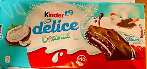 Ferrero Delice Cocos Coconut voor kinderen, 10-delige voordeelverpakking, 10 x 39 g, kleine gevulde taart snack snack…