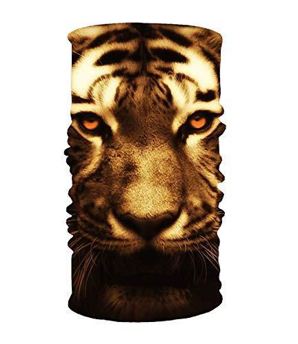 dingjiakemao Stylish Cat Tiger Animal UV Headband Quick Dry Ultra Soft Elastic Handscarf Microfiber Headwear Outdoor Bandana Magic Scarf Face Mask Unisex