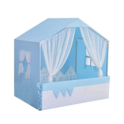 SearchI Tragbares kleines Haustierhaus Hundebett, Indoor Haustierhaus, Hundehütte, Haus für Hunde(blau,50x45x50cm)
