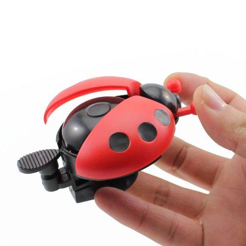 Huayang pour Les Enfants Bicyclette Bell de Coccinelle(Rouge)